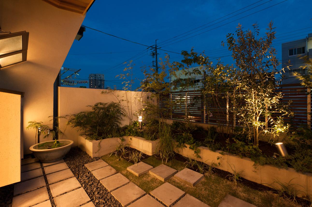 ガーデンテラスのある家